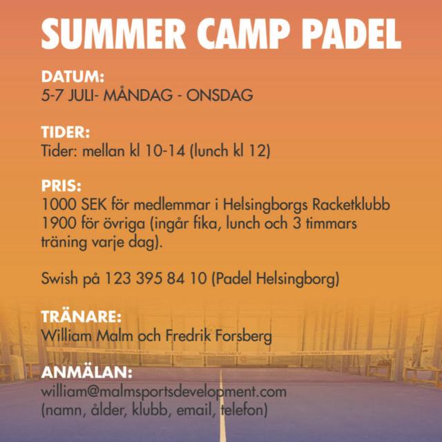 Summer Camp Padel